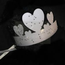 Paper crown with stars for kids (set of 12) / Κορώνα χάρτινη με αστεράκια για παιδιά (σετ των 12)
